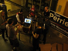 Perriello Volunteers Move to Basement During Tornado Warning