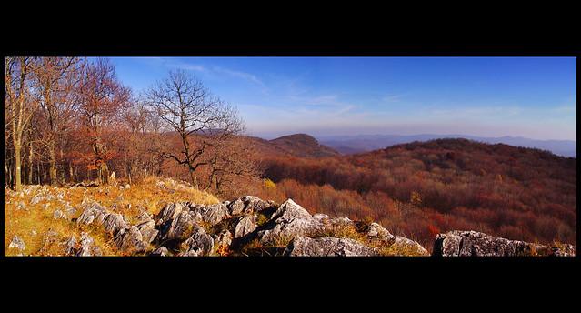 Kilátás az Őr-kő (880 m) csúcsáról