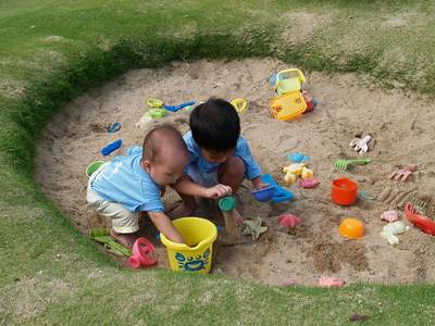 Boys in the sandpit