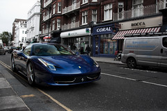 TDF Blue. (Alex Penfold) Tags: blue france cars alex sports car canon frank de photography photo cool italian italia tour image lampard south awesome picture fast super ferrari exotic photograph kensington supercar exotica 2010 tdf penfold 458 450d hpyer