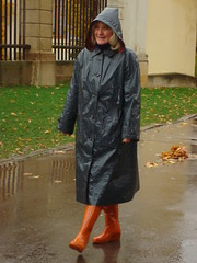 Klitschna (sari40) Tags: vintage latex raincoat lack klepper regenmantel kleppermantel gummimantel rubbercoat