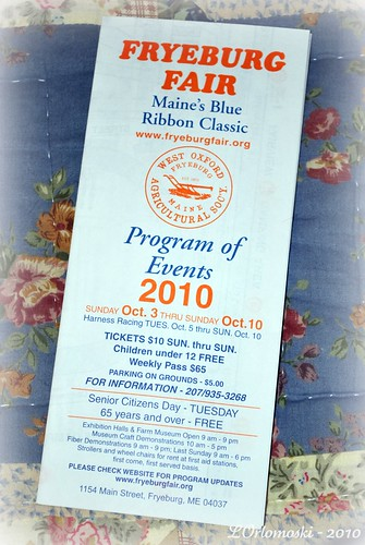 Fryeburg Fair Program