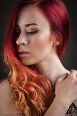 burning hair (MichalKondrat) Tags: migawka portret justyna lampa 100plenermigawki heydebreck błysk modelka strobbing kobieta migawki modelki błyskanie rzeźnia stararzeźnia studio 100 plener stara d300s