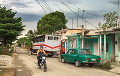 Local traffic in this part of town (lezumbalaberenjena) Tags: camajuani camajuaní cuba villas villa clara 2017 truck camión moskvich lezumbalaberenjena