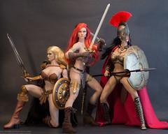 Warrior Women (edwicks_toybox) Tags: 16scale tbleague arhian blonde executivereplicas femaleactionfigure phicen redsonja spartawarrior sword warrior