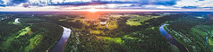 Sunset curves (Eaglewood Photography) Tags: arial panorama pano latvia sigulda drone dronephotography nature sunrise gauja valley forest river