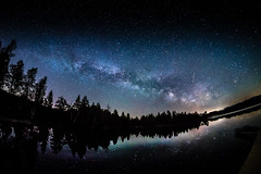 Is Your Sky full of Stars? (*Capture the Moment*) Tags: 2017 f28 fisheye kirchsee lakekirchsee milchstrasse milkyway reflection reflections reflexion sonya7m2 sonya7mii sonya7ii sonyilce7m2 walimexpro