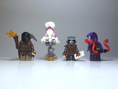 Fantasy figs 2 (Legojus) Tags: thief lizard serpent naga genie raccoon raider tomb figbarf minfigs figs fantasy lego