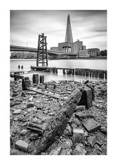 The Shard (GDWilson1000) Tags: the shard bw le lee big stopper thames london foreshore