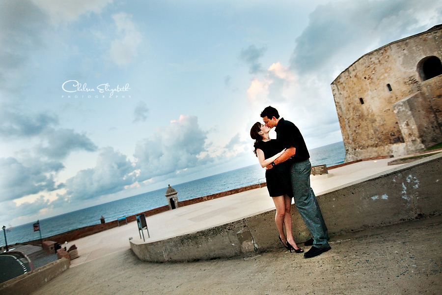 Fort San Cristóbal engagement session fort in San Juan, Puerto Rico