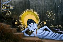 spirituality goa 2009 (Captain Borderline) Tags: india streetart art mural or goa spirits captain vodka spirituality budda borderline