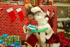 Owen and Santa