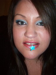 Bite my Star (misscherry_girl) Tags: blue mouth star eyes teeth lips piercing bite eyeshadow mouthful