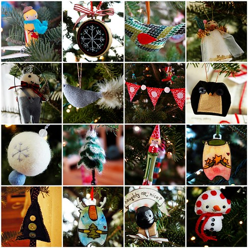 First Annual Small Fox Ornament Swap: My Loot!