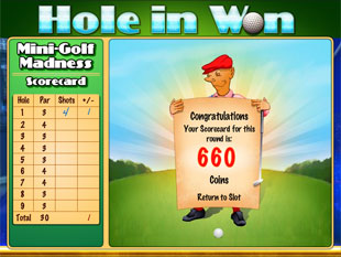 free Hole in Won slot bonus feature