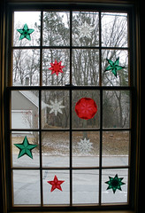 Origami Window Stars at Church