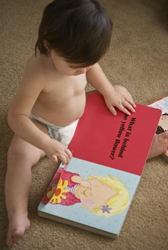 Izzy reading