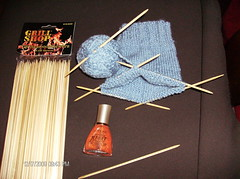 Bamboo Skewer DPNs (Minneapolis Gnome) Tags: knitting bamboo homemade needles skewers dpn