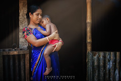 Mother and Child (Shabbir Ferdous) Tags: blue light red portrait woman art eyes ray photographer child shot expression mother dhaka capture tone bangladesh bangladeshi tangail ef70200mmf28lisusm canoneos5dmarkii shabbirferdous wwwshabbirferdouscom shabbirferdouscom