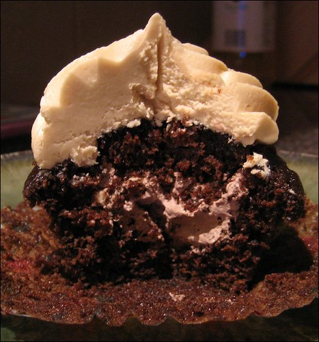 coffee cupcakes - inside view