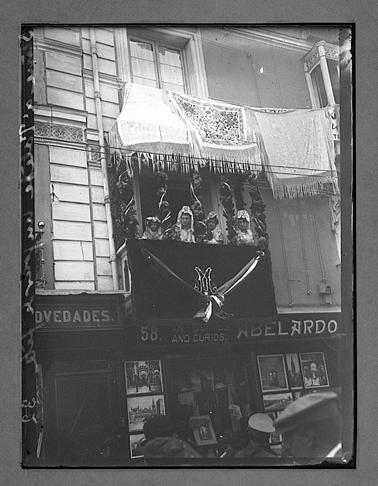 Toledo engalanada para la visita de Raymond Poincaré y Alfonso XIII en 1913. Fotografía de Charles Chusseau-Flaviens. Copyright © George Eastman House, Rochester, NY