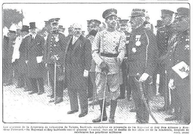 Visita de Raymond Poincaré y Alfonso XIII a Toledo en 1913. Revista Nuevo Mundo