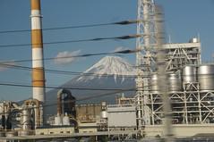 Fuji-San Stands Behind Industry (Fuji-shi, Japan) (Joe Ruffles) Tags: japan mountfuji fujisan gps