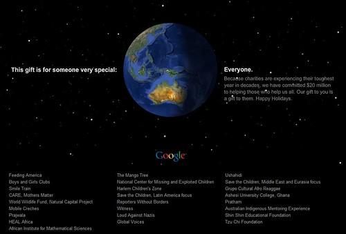 Happy Holidays from Google - Earth