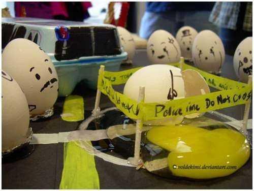 Un arte de huevos!