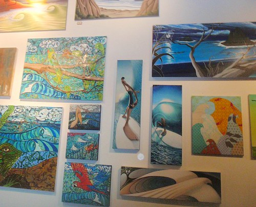 Some of my Art prints amongst some of the other awesome art at the exhibit