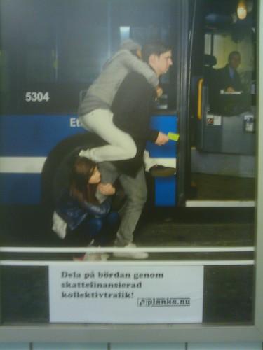 Stockholmslat oss slippa reklamen i kollektivtrafiken