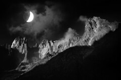 Aiguilles de Leschaux (a galaxy far, far away...) Tags: montblanc montebianco massif france nature mountain landscape blackwhite biancoenero monochrome monochromatic moon moonlight pentax aiguillesdeleschaux aiguilles leschaux alpi alps alpes alpen highmountain pentaxk20d notte night nacht nat nuit noche 夜晚 noc 晚上 atmosphere mysticism mystical mystic dark occult esoteric myth mythological mythology argentière chamonix otherworldly abigfave naturesfinest flickrdiamond platinumphoto yourwonderland ultimateshot bravo bn bw robertobertero outdoorphotography