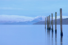 Last post... (Nicolas Valentin) Tags: uk blue cold scotland scenery post ben baltic lomond lochlom