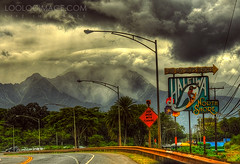 heading  to a magic land (ShanLuPhoto) Tags: sky mountain clouds hawaii northshore freeway honolulu haleiwa murky hdr loolooimage