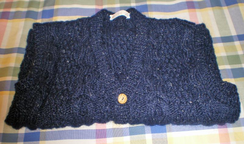 Rachel's navy vest