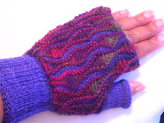 Drop Stitch Mitts #7