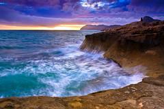 Storm off the Calblanque Coast (sunstormphotography.com) Tags: longexposure sea seascape water canon landscape spain cliffs murcia cartegena costablanca calblanque southernspain eos450d ndgrad costacalida therebeastormabrewin