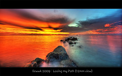 ... losing my Path (12mm view) ... (liewwk - www.liewwkphoto.com) Tags: ocean sunset sun water set landscape coast seaside high sand view dynamic salt surface malaysia beast imaging  mapping range tone hdr hdri exposures   specialpicture superaplus aplusphoto   theoriginalgoldseal