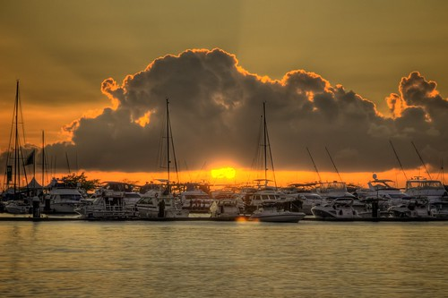 Sunset at Salvador Marina