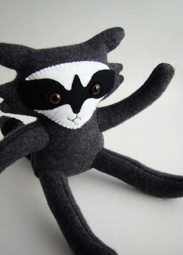 Wool Felt Raccoon