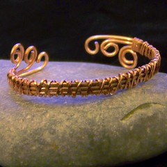 Copper bangle - front