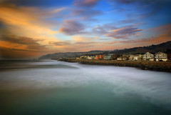 A View From the Pacifica Pier (nlwirth) Tags: color long exposure pacifica greensea colorphotoaward viewfromthepier bestcapturesaoi elitegalleryaoi ladedadelaladadadededalala