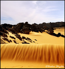 Tadrart AKaKuS ! (Bashar Shglila) Tags: sea sky mountains sahara clouds sand desert libya libyan acacus libyen akakus lbia libi libiya liviya libija      lbija  lby libja lbya liiba livi