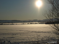 Footprints on Ice (B4bees .(2m views)) Tags: winter sunshine scotland frozen footprints kinross lochleven