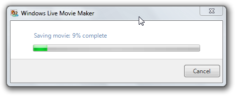 Saving movie before YouTube upload in Windows Live Movie Maker