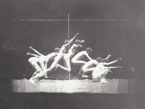 07 Thomas Eakins Motion Study, male nude, standing jump to right