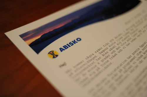 A letter from STF Abisko