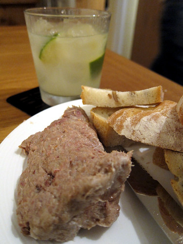 Goose rillettes and a Caipirinha