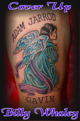 cover up (Billy Whaley Tattoo) Tags: color tattoo angel arm praying coverup whaley biily
