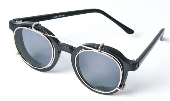 Spitfire frames with clip ons at OAK Nyc 2